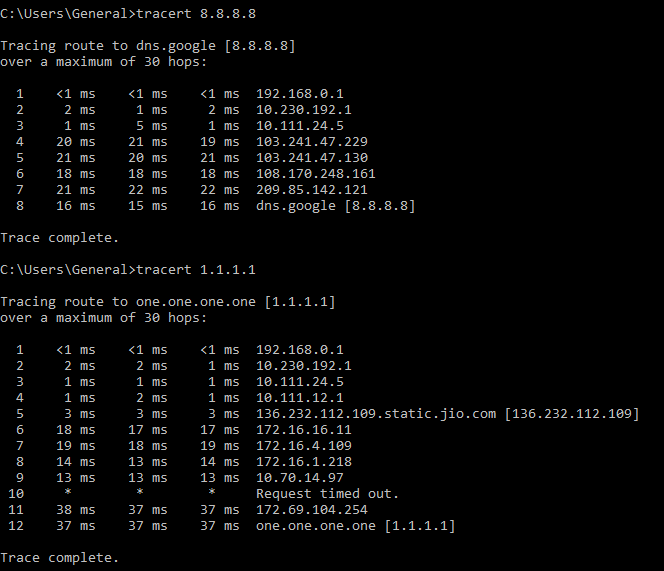 tracert to google dns.PNG